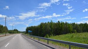 Bilvägen mot Pyttis