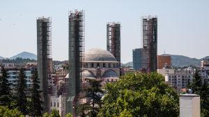 Moskébygge i Tirana.