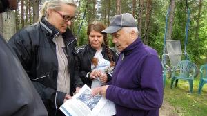 Petra Rantala, Nina Pettersson-Perklén och Reijo Erkkilä