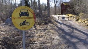 Solbacksvägen i Höstves i Vasa. Här skedde fredagens dödsolycka.