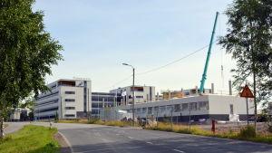 Byggnaderna i Powergate två i Runsor i Vasa byggs.