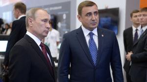 Vladimir Putin och Alexej Djumin.