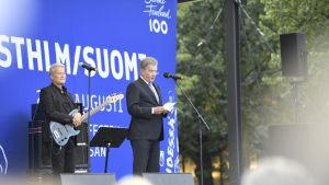 President Sauli Niinistö talade på invigningen av festivalen.