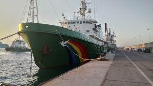Fartyget Esperanza som tillhör Greenpeace-flottan.