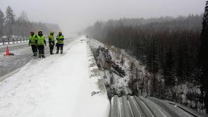Olycka på motorväg