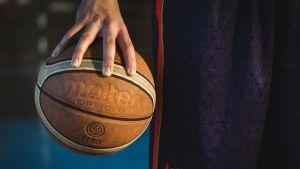 Närbild av en basketboll