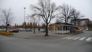 Järnvägstorget i Karleby.