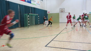 Handbollsmatch.