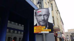 FDP:s ordförande Christian Lindner har gjort en stark valkampanj. Hans parti ser ut att göra ett bra val och kan ta sig in i såväl parlament som regering.