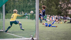 Juniorfotbollsmatch PPJ-PuiU, juli 2017.