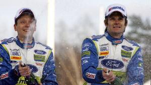 Timo Rautiainen och Marcus Grönholm.