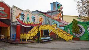 Lustiga huset Vekkula på Borgbacken.