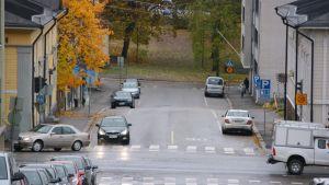 Gatukorsningen Brunnsgatan-Mannerheimgatan i Borgå