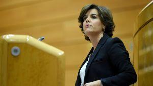 Spaniens vice premiärminister Soraya Sáenz de Santamaría.