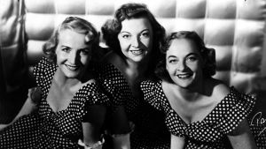 Lauluyhtye Harmony Sisters: Vera Ehnroth, Maire Ojonen ja Raija Avellan 1950-luvulla