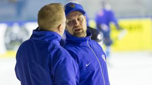 Mikko Manner är assisterande tränare för ishockeylandslaget.