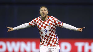Andrej Kramaric gjorde 4-1-målet för Kroatien.