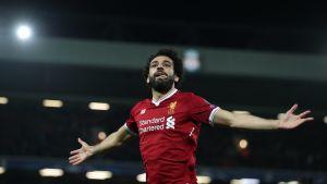 Mohamed Salah firar ett mål för Liverpool