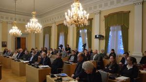 Fullmäktige i Jakobstad är samlat till fullmäktigemöte