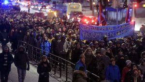 Helsinki ilman natseja-demonstration.