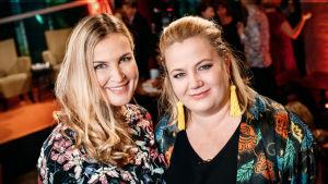 Anne Hietanen och Kia Svaetichin på Yle Fems litteraturfest