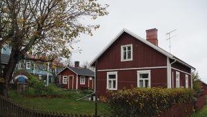Huset där familjen Kovanen bor på Utö.