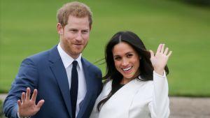Prins Harry och hans blivande hustru Meghan Markle.