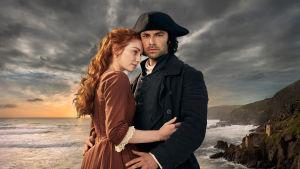 Cornwallin maisemiin sijoittuva draamasarja palaa uusin jaksoin. Pääroolissa Aidan Turner ja Eleanor Tomlinson.