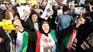Demonstration till stöd för regimen i Teheran.