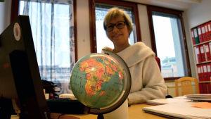 Nina Stubb, mångkulturutvecklare på Röda Korset, Österbottens svenska distrikt.