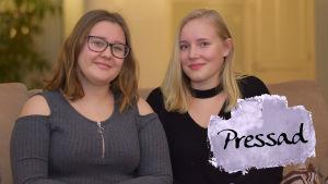 Senja Haapalainen och Emilia Multisilta