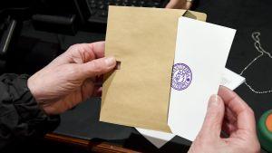 bild på en röstsedel