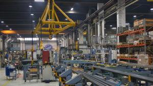 Produktionslinje vid OSTP i Jakobstad