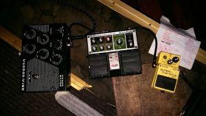 Effektpedaler till elektrisk gitarr