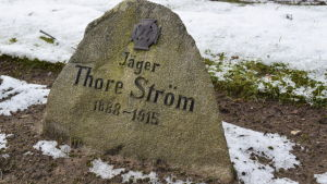 Jägare Thore Ströms grav i Kellinghusen