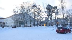 Raseborgs sjukhus en vacker vinterdag.