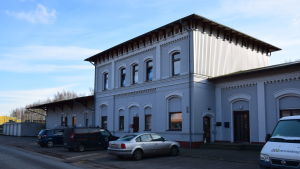 Den forna tågstationen i Lockstedter Lager