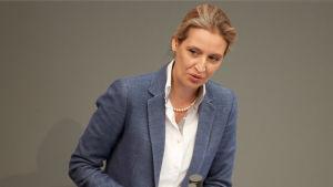 Alice Weidel leder tyska AfD:s parlamentsgrupp.