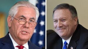 Utrikesminister Rex Tillerson kommer att ersättas av den nuvarande CIA-chefen Mike Pompeo