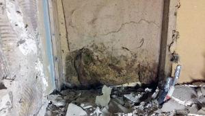 Pukkilassa sijaitsevan talon kosteusvaurio.