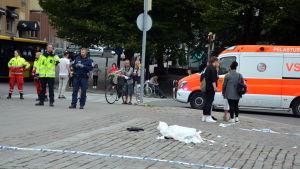 Salutorget i Åbo efter knivattacken i augusti 2018.