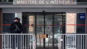 Ex-president Nikolas Sarkozy förhördes av poliser i Nanterre, i Paris utkanter