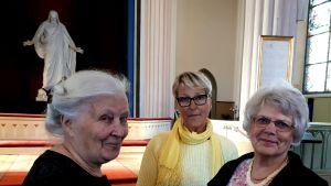 Desiree Kantola, Stine Hellroos och Annette Frisk i Lovisa församling.