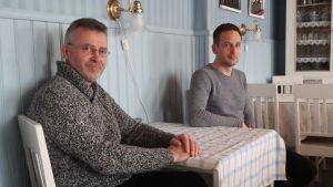 Sven Ivars och Kristian Lindroos i Sagalund