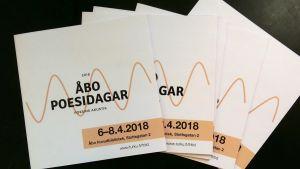 Folders för Åbo poesidagar 2018.
