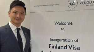 Stan Kwong,chef för Finnair i Hongkong och södra Kina.