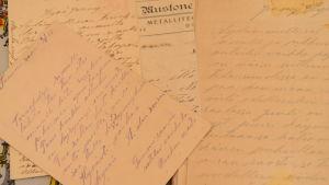 Brev från Hugo Enbom till släktingar under inbördeskriget 1918.