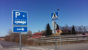 Trafikmärke för anslutningsparkering