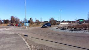 Anslutningsparkering på Lappträskvägen i Lovisa.