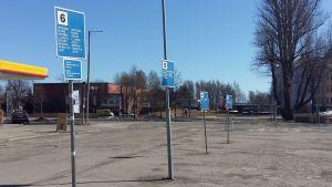 Hållplatser för bussar inom Lovisa.